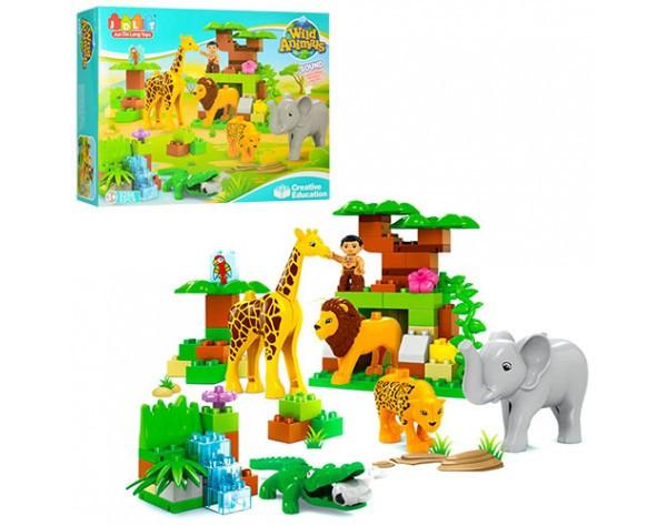 Конструктор для малышей с большимы деталями JDLT зоопарк