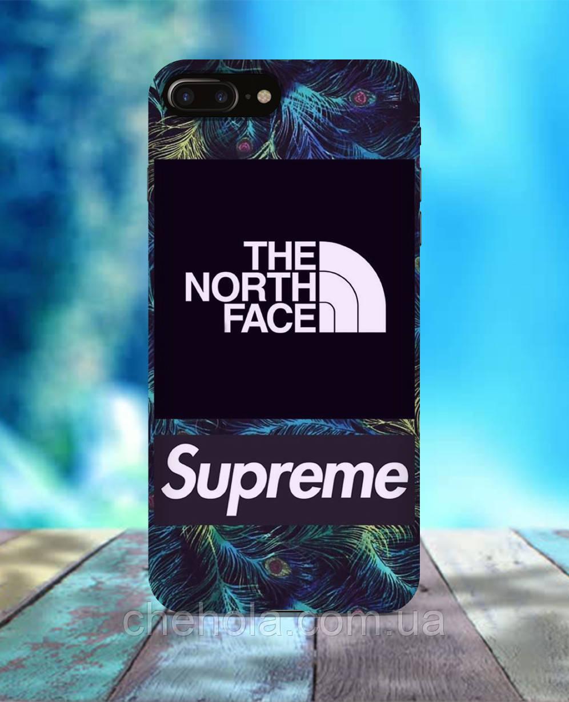 Чехол для iPhone 7 8 7 Plus 8 Plus В стиле Supreme TNF
