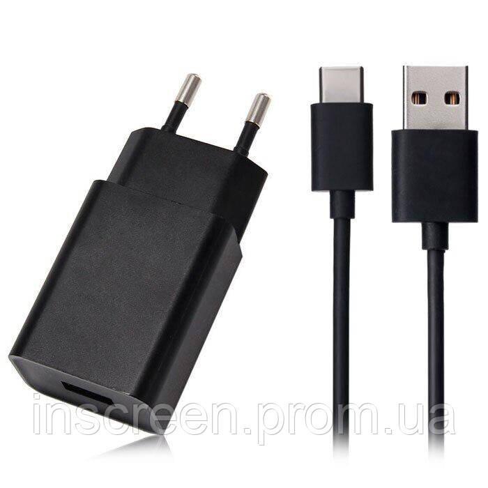 Мережевий зарядний пристрій Xiaomi MDY-Q3-EC-1 USB (2A) провід Type-C Чорний