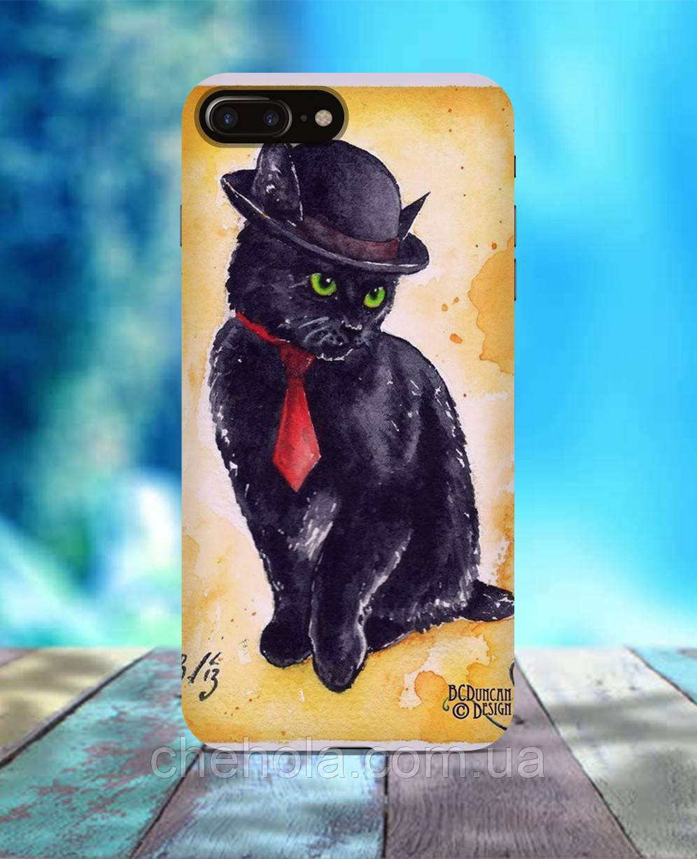 Чохол для iPhone 7 8 7 Plus 8 Plus Чорний кіт