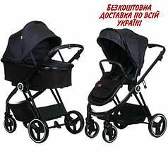 Детская универсальная коляска 2 в 1 Babyzz B102 Темно-синий
