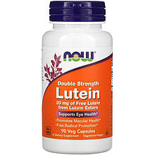 "Лютеин для зрения NOW Foods ""Lutein"" двойная сила, 20 мг (90 капсул)"