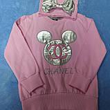Костюм модный красивый нарядный оригинальный для девочки. В комплекте лосины серебристого цвета кофта и шапка, фото 2