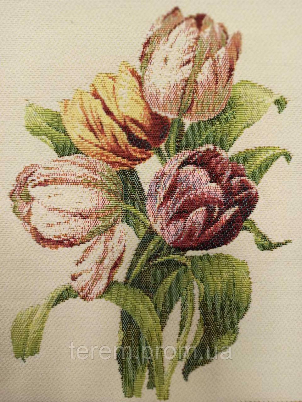 Гобеленовая картина Art de Lys Bouquet de 4 tulipes  25x25  без подкладки