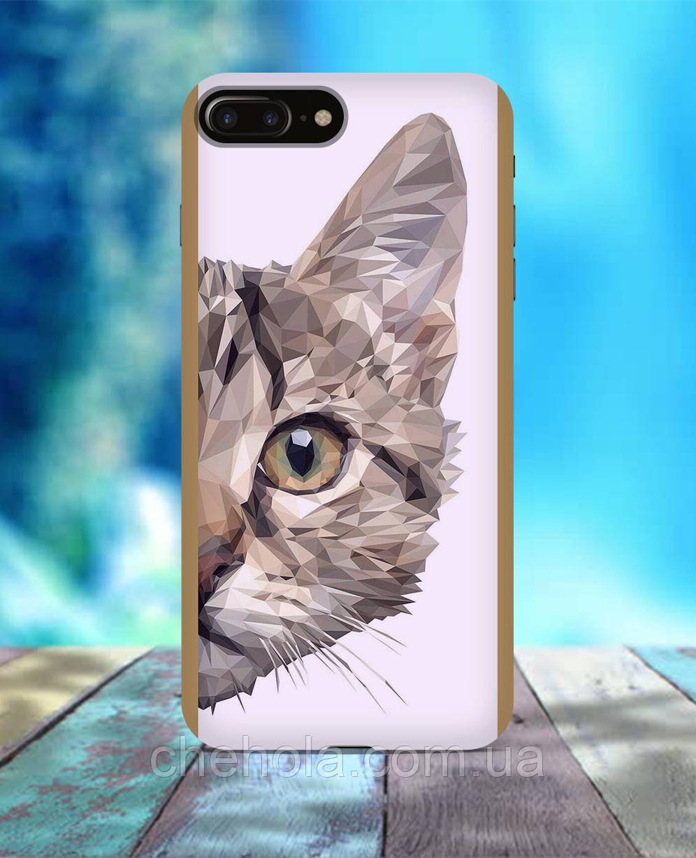 Чехол для iPhone 7 8 7 Plus 8 Plus Кот полигон