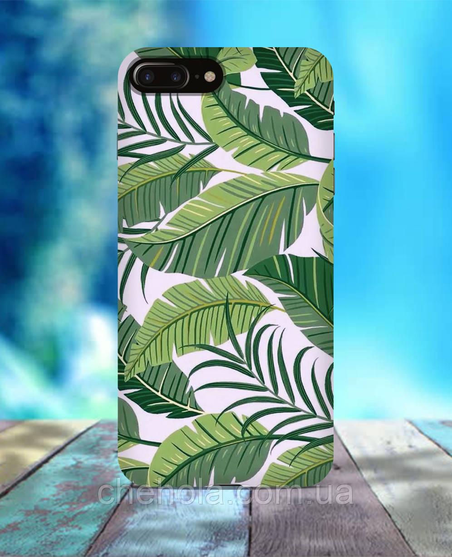 Чехол для iPhone 7 8 7 Plus 8 Plus Листва зелень