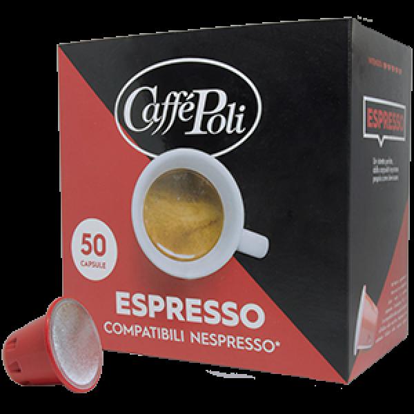 Кофе в капсулах Caffe Poli Espresso Nespresso, 50 капсул
