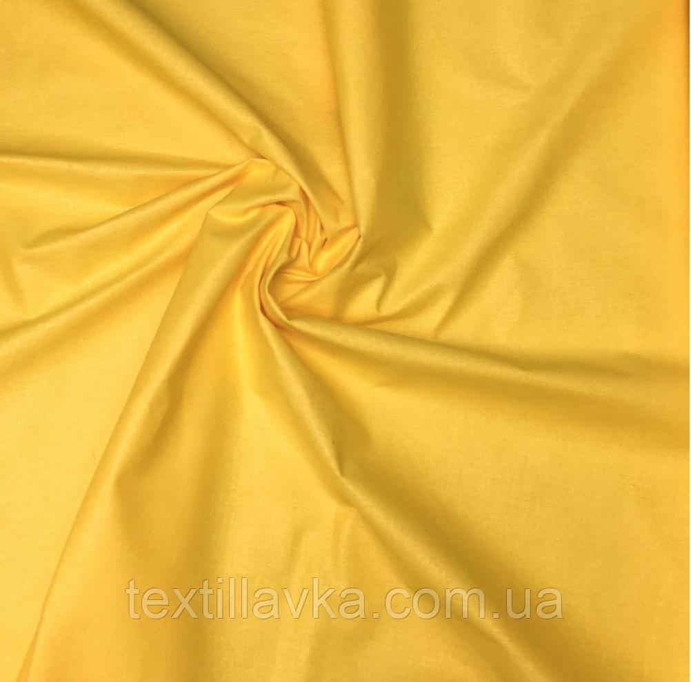 Ткань хлопок для рукоделия желтая