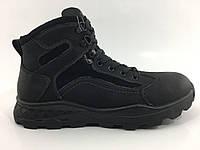 Мужские кожаные зимние ботинки на цигейке