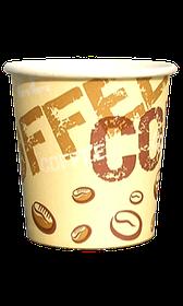 Стакан бумажный однослойный Coffee coffee 110 мл. 50 шт.