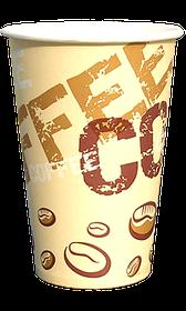 Стакан бумажный однослойный Coffee coffee 340 мл. 50 шт.