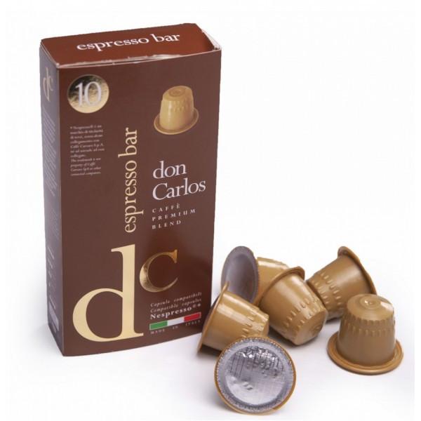 "Кофе в капсулах Don Carlos N ""Espresso Bar, 10 капсул Nespresso"