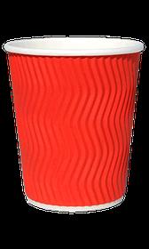 Стакан гофрований RIPPLE RED 185 мл. 25 шт.
