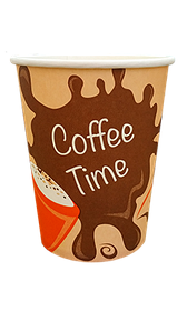 Стакан бумажный однослойный Coffee Time 250 мл. 50 шт.