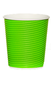 Стакан гофрированный RIPPLE GREEN 185 мл. 25 шт.