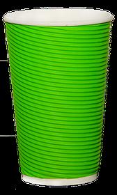 Стакан гофрированный RIPPLE GREEN 500 мл. 25 шт.