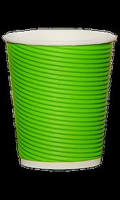 Стакан гофрированный RIPPLE GREEN 350 мл. 25 шт.
