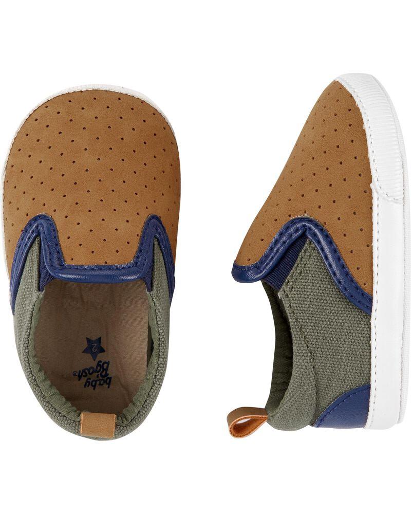 Пинетки OshKosh Ошкош, первая обувь малыша, обувь для новорожденных 6-9М, 9-12М