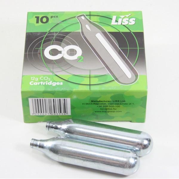 Балончики CO2 для пневматики 10 шт., LISS