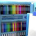 """УЦЕНКА! Набор для рисования с мольбертом в чемоданчике """"Чемодан творчества 208 предметов"""" Голубой (GK), фото 3"""