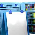 """УЦЕНКА! Набор для рисования с мольбертом в чемоданчике """"Чемодан творчества 208 предметов"""" Голубой (GK), фото 4"""