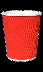 Стакан гофрований RIPPLE RED 350 мл. 25 шт.