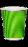 Стакан гофрированный RIPPLE BLACK 270 мл. 25 шт., фото 2