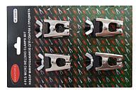 Комплект зажимов для сварочных работ (4 предмета) в блистере. ROCKFORCE RF-336814