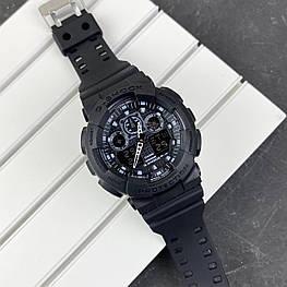 Мужские наручные часы Casio G-Shock GA-100 All Black