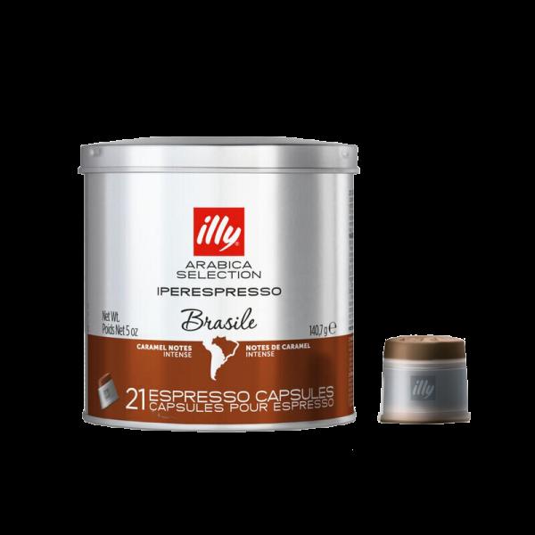 Кофе в капсулах Illy Brasile, 21 капсула iperEspresso