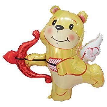 "BT 42"" Cupid Bear Balloon. Фольгированный шар Медвежонок Купидон"