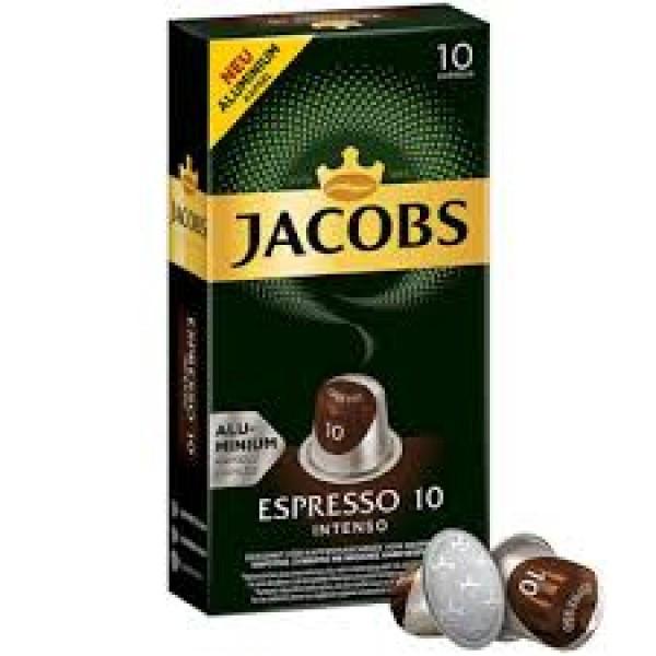 Кофе в капсулах Jacobs Espresso 10 Intenso, 10 капсул Nespresso
