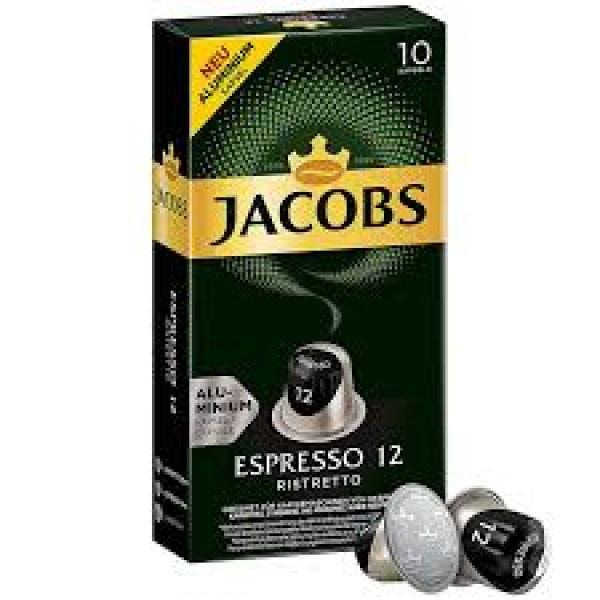 Кава в капсулах Jacobs Espresso 12 Ristretto, 10 капсул Nespresso