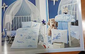 Постельное белье в детскую  кроватку 100*150 Ranforce (TM Aran Clasy) Super Wings, Турция