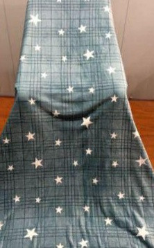 Покрывало плед  BAYUN Звезды 200*220 см Blue