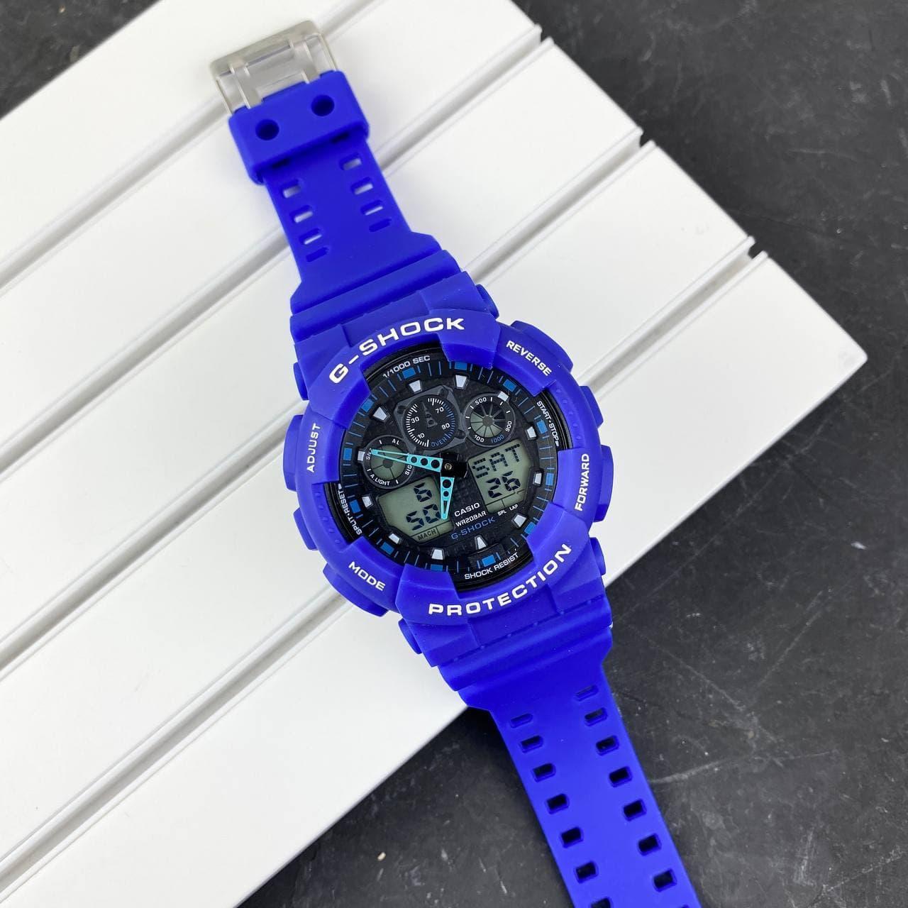 Мужские наручные часы Casio G-Shock GA-100 Blue-Black