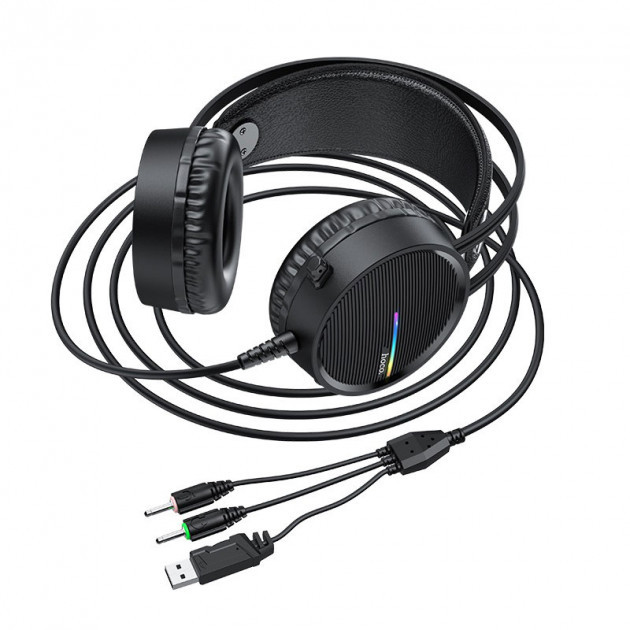 Навушники ігрові Hoco W100 Touring gaming headset з мікрофоном Black