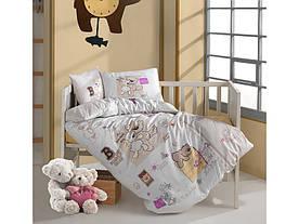 Постельное белье в детскую  кроватку 100*150 Ranforce (TM Aran Clasy)  Frienship, Турция