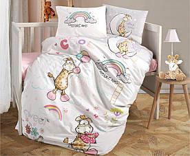 Постельное белье в детскую  кроватку 100*150 Ranforce (TM Aran Clasy) Sleep Time, Турция