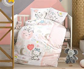 Постельное белье в детскую  кроватку 100*150 Ranforce (TM Aran Clasy) Sweet Dreams, Турция