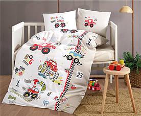 Постельное белье в детскую  кроватку 100*150 Ranforce (TM Aran Clasy) Truck, Турция