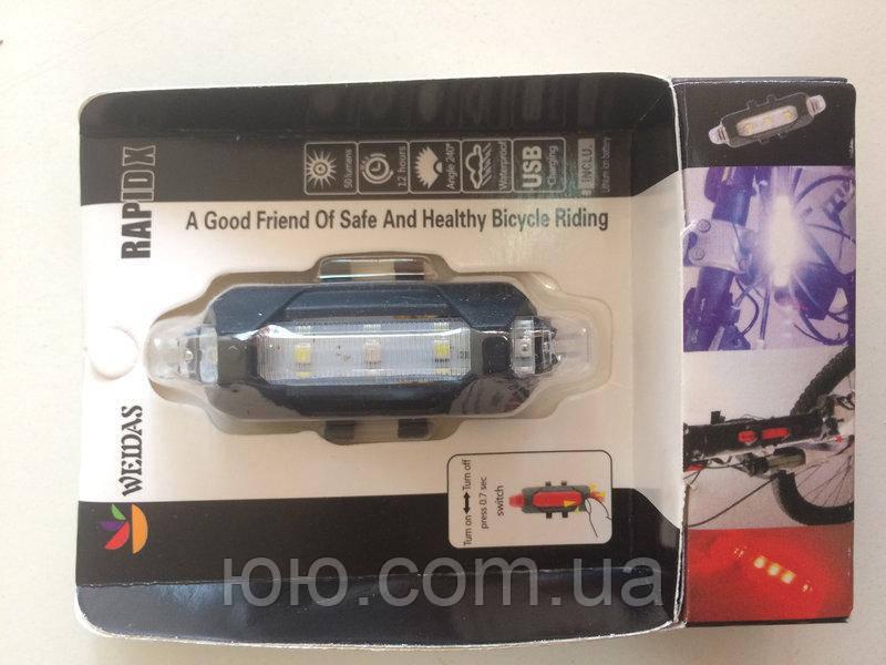 Фонарь велосипедный аккумуляторный WDS-093