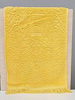Кухонные махровые полотенца хлопок Vip жаккард 30*50 (1шт) 400г/м2 (TM ZERON) желтой яркий ,Турция