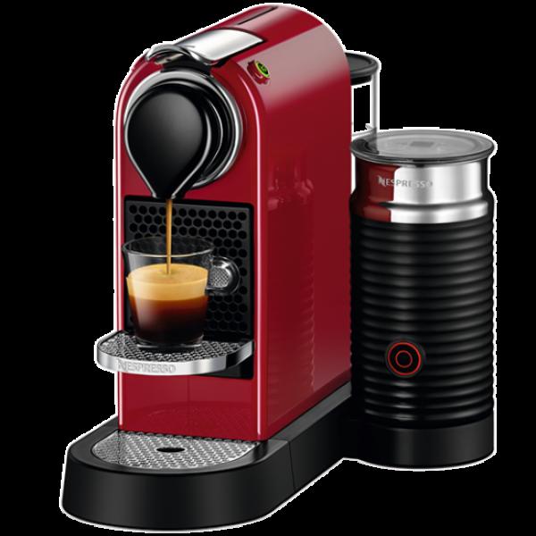 Капсульна кавоварка CitiZ and Milk Red, Nespresso