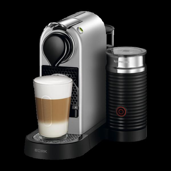 Капсульная кофеварка CitiZ and Milk Silver, Nespresso