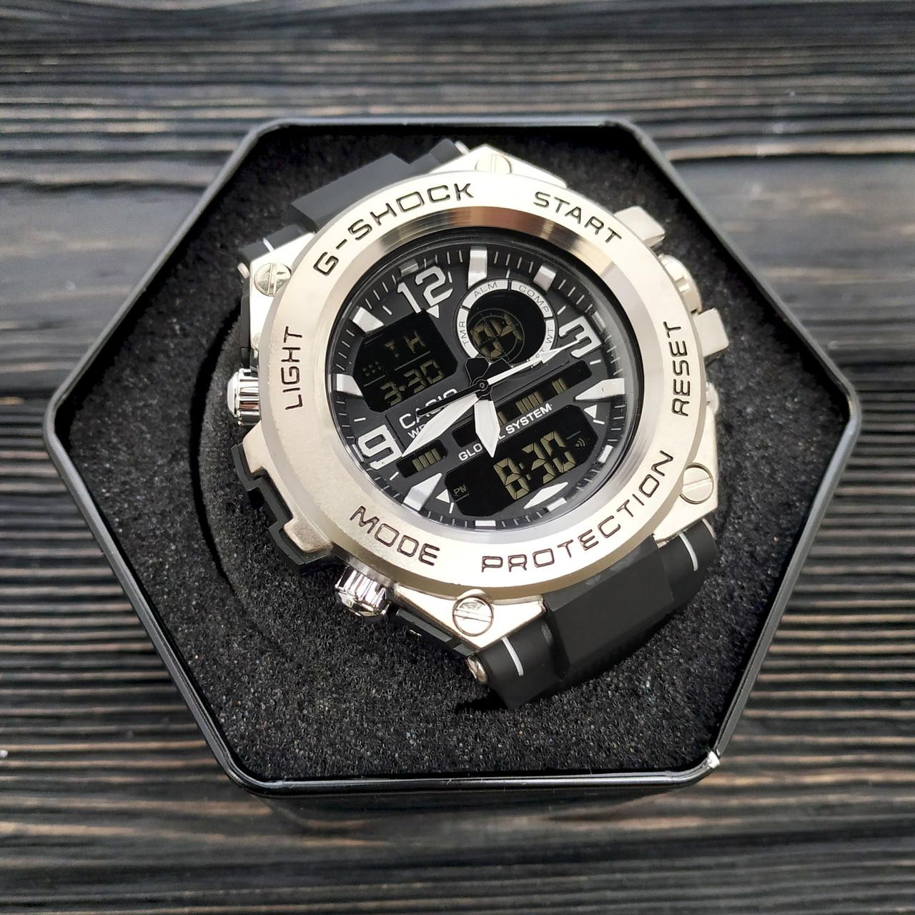 Мужские наручные часы Casio G-Shock GLG-1000 Black-Silver-Black