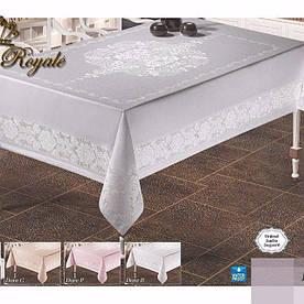 Скатертина тефлонова прямокутна Maison Royale Dore 160х220 Beyaz, Туреччина