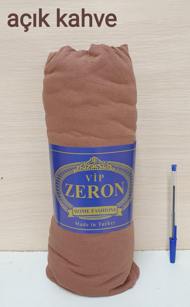 Простынь на резинке трикотажная 180*200 ACIK KAHVE  (TM Zeron), Турция