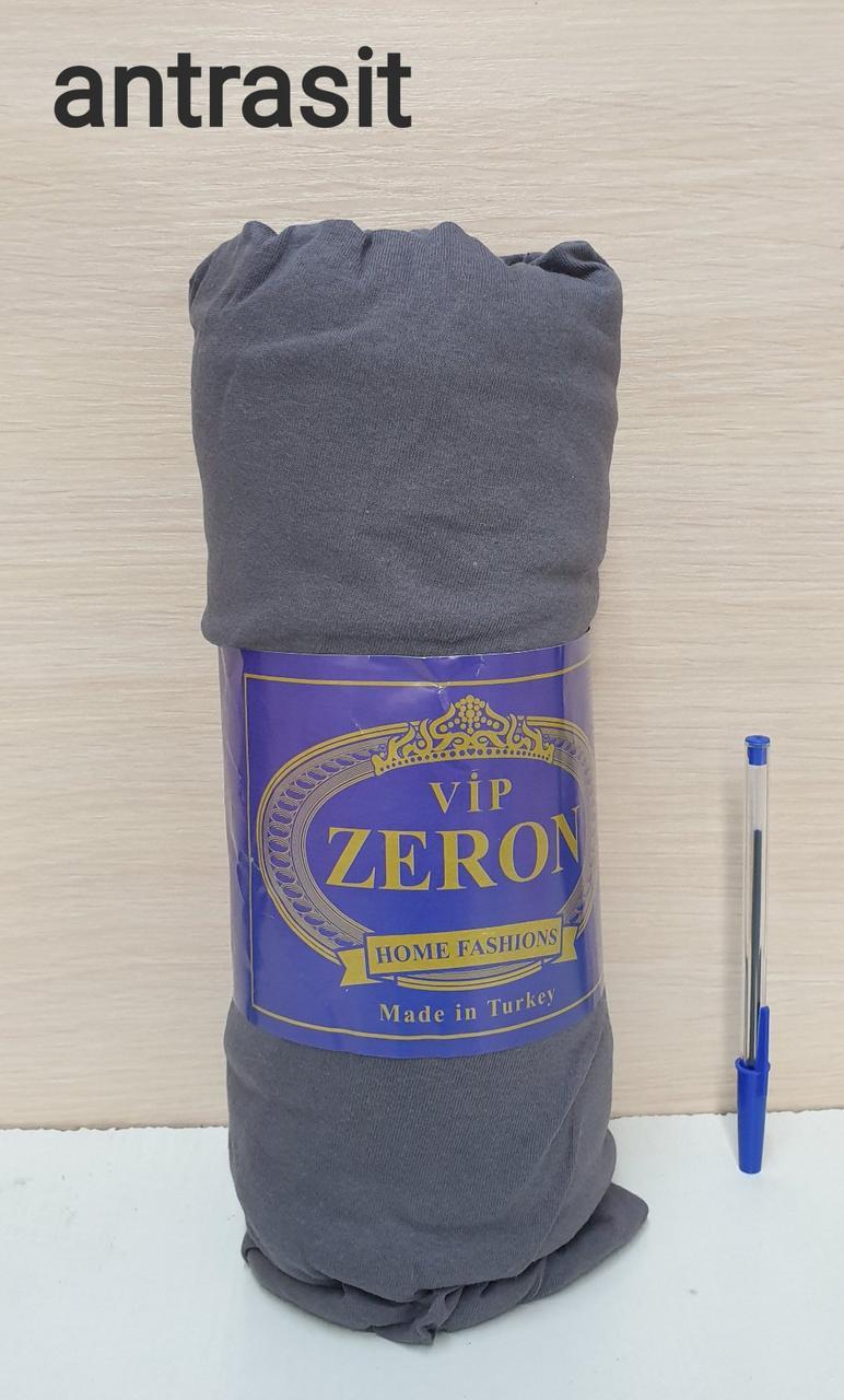 Простынь на резинке трикотажная 180*200 ANTRASIT  (TM Zeron), Турция