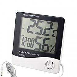Цифровой термометр, часы, гигрометр с проводдом
